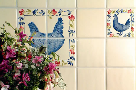 Hand Painted Bird Tiles