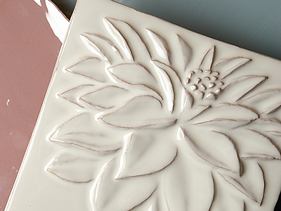 Tiles of Stow hand made Impressions wall tiles
