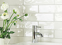 China White 300 X 75mm Brick Tiles  (Photo: Winchester Tile Co)