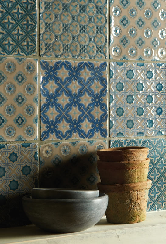 winchester decorated tiles