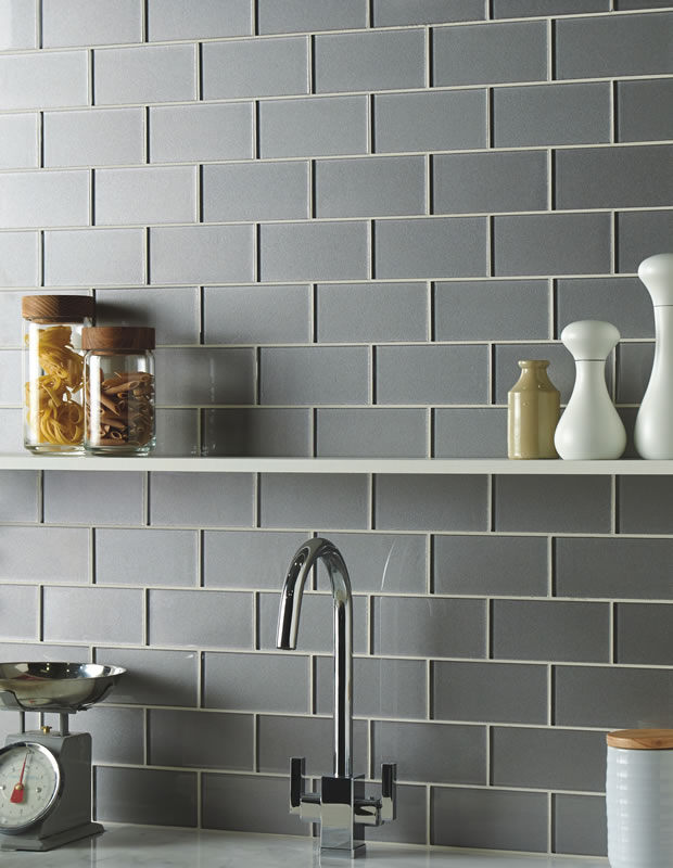 Tiles Of Stow Metallic Short Brick Glass Tiles 152x75mm