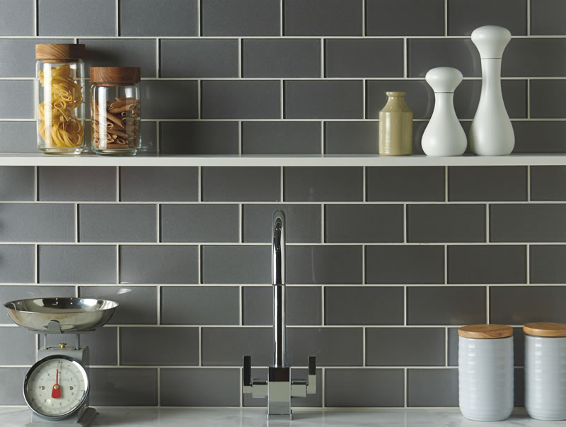 Tiles of Stow - Metallic Short Brick Glass Tiles 152x75mm