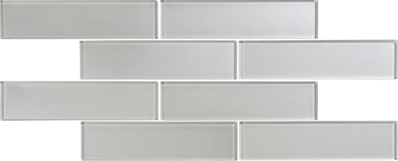 Tiles of stow metallic long brick glass mosaic for Large format glass tile