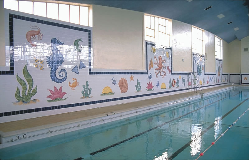 Tiles Of Stow Hand Painted Commercial Tile Murals Swimming Pool Bristol