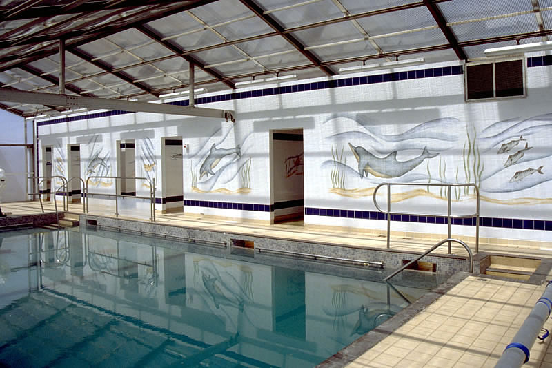 Tiles Of Stow Hand Painted Commercial Tile Murals Therapy Pool Exeter